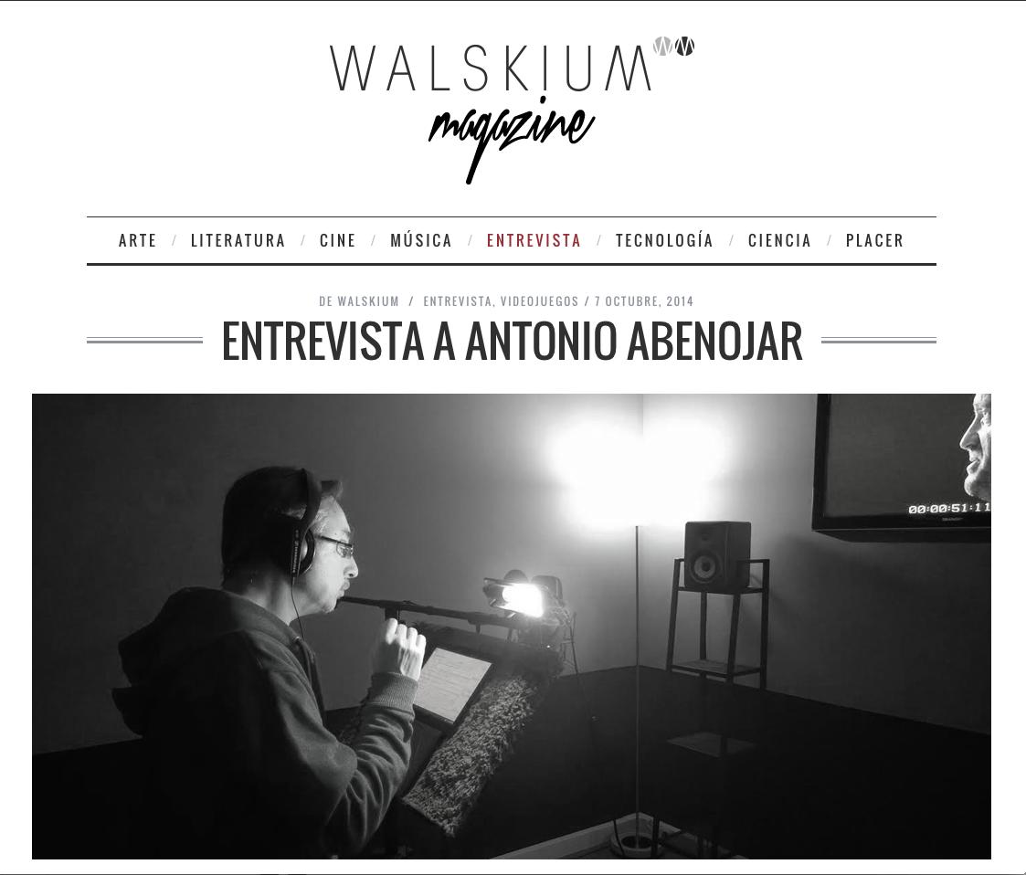 entrevista walskium magazine